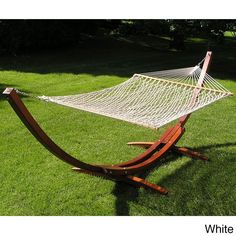 Deluxe Wood Arc Hammock Stand Brown Rope Set (Deluxe Wood Arc Hammock Stand White Set) (Polyester) #ss-wood-stand-rope-set, Patio Furniture