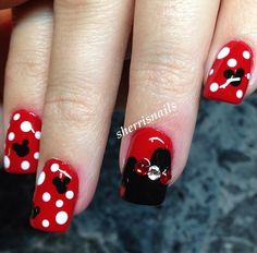 100 Best Minnie Mouse Nails Images On Pinterest Minnie Mouse Nails