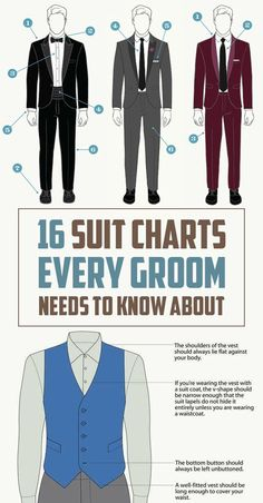16 Style Charts Every Groom Should See Before The Wedding                                                                                                                                                     More