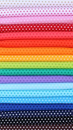Rainbow Polka Dots / Pin Dots  18 Piece Fat by StitchinStash, $42.00