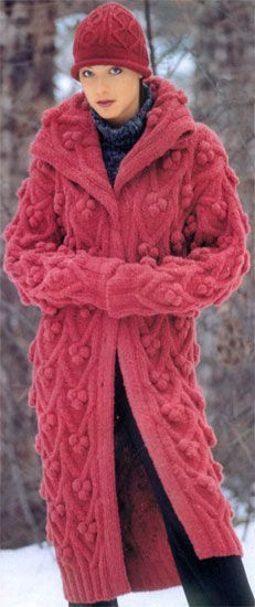 Irish lace, crochet, crochet patterns, clothing and decorations for the house, crocheted. Gros Pull Mohair, Maxi Robes, Sweater Layering, Knitted Coat, Girls Sweaters, Aran Sweaters, Crochet Cardigan, Knit Jacket, Sweater Coats