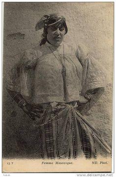Afrique du Nord-Femme Mauresque-N.D. (Numéro d'objet: #44405111)Algerian Women 1919 جزائرية