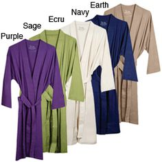 @Overstock - Feel the silky softness of this certified, 100-percent organic cotton knitted bathrobe after a luxurious bath or a day at the spa. This kimono-style bath robe features lightweight knitted interlock jersey construction.http://www.overstock.com/Bedding-Bath/Womens-Organic-Cotton-Knitted-Bath-Robe/5040787/product.html?CID=214117 $44.99