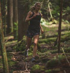 Someone doing something I love, trail running.