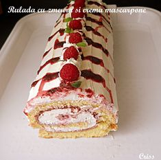Sweets Recipes, Cake Recipes, Ice Cream Desserts, Cheesecake, Good Food, Food And Drink, Cooking, Breakfast, Ethnic Recipes
