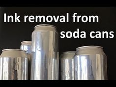 Ink removal from soda can Aluminum Can Crafts, Aluminum Cans, Metal Crafts, Recycled Crafts, Recycled Clothing, Recycled Fashion, Tin Can Art, Soda Can Art, Recycle Cans