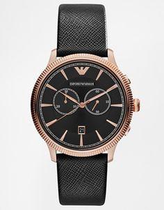 Emporio Armani Alpha Chronograph Gold Detail Watch AR1792