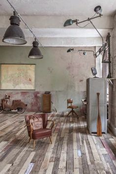 Industrial in (Germany industrial architecture) Industrial Living, Industrial Interiors, Rustic Industrial, Industrial Architecture, Interior Architecture, Interior And Exterior, Design Creation, Casa Loft, Sweet Home