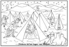 Kleurplaten - Categorie: Gideon. http://www.gelovenisleuk.nl