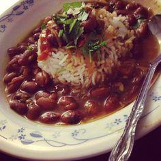 Home made rice and beans (Rajmah chawal)