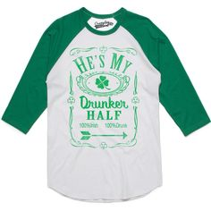 80b6a72fc Crazy Dog T-shirts Womens Hes My Drunker Half Funny Couples Saint Patricks  Day Drinking
