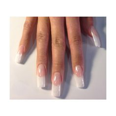 White French manicure. I've had this kind of nails before in Cali, with the long nail bed. | See more about white french nails, french tip nails and tip nails.