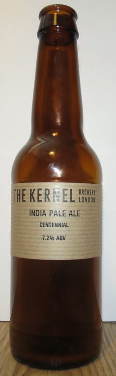 The Kernel Brewery - Centennial India Pale Ale. Delicious beer from a small brewery in South London. Reviewed by @Lucy Kemp for food and drink blog www.citysuppers.wordpress.com