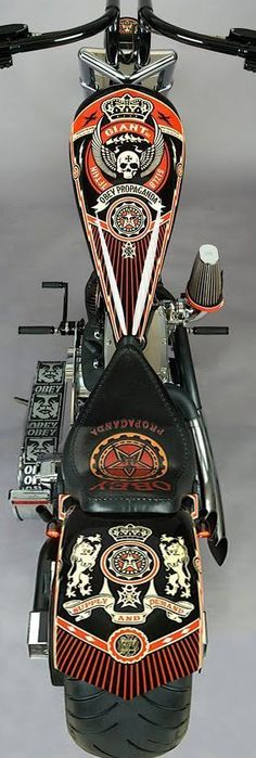 Great bikes presented to you by www.friseuragent.de - Obey Propaganda Chopper nice artwork
