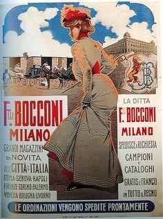 Milano, la Rinascente di fine '800: quando i grandi magazzini si chiamavano ancora Bocconi - Primi Magazzini Bocconi (fino al 1889), Via Carlo Alberto  - Milano -  dal 1917  - La Rinascente