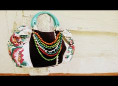 Ukrainian bag with authentic embroidery and necklace