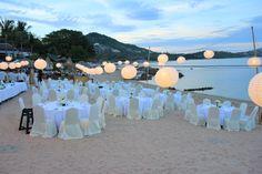 Reception on the beach.
