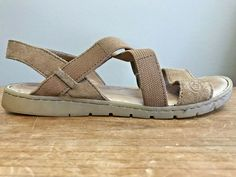 f97ac19ed2b Born Ladies Size 7 M Sandals Atiana Tan Leather Active Wear Shoes F01016   Born