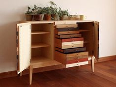 Found through Japanese retailer Hiromatsu, but unfortunately not yet available in the U.S., these Sono chests of drawers seem like the perfect prototype for an adventurous DIYer