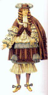 Costume for men, c. 1660