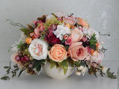 Купить Интерьерная композиция - цветочная композиция, интерьерная композиция, цветы в вазе, цветы искусственные