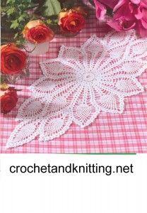 free crochet lace doily pattern Free Crochet Doily Pattern 25 Long / nice site as well. Free Crochet Doily Patterns, Crochet Motifs, Thread Crochet, Knitting Patterns, Filet Crochet, Crochet Gratis, Crochet Table Runner, Crochet Tablecloth, Crochet Dollies