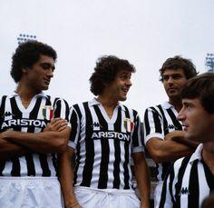 Claudio Gentile, Michel Platini et Antonio Cabrini (Juventus Turin)