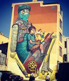 Pixel Pancho Mural-Ist Festival 2012, (Istanbul, Turkey)