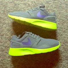 Nike Women's Kaishi Shoes BNIB - Women's Size 5 - Cool Grey, Grape and Volt Color Nike Shoes Athletic Shoes