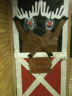 Wild Reindeer!  Classroom door for next year!!  Love it!