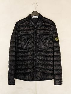 Stone Island Down Shirt Jacket | Weighing only 26 grams per square meter the piece is padded with the finest down and is specially treated to bear the stress of the garment dyeing procedure. Lightweight and Durable.