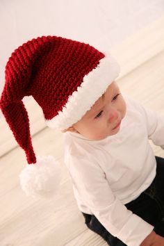Hey, I found this really awesome Etsy listing at http://www.etsy.com/listing/88093773/santa-cap-crochet-patternnewborn-to