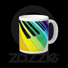 #Keyboard #Music #Party #Colors Extra Large #Mug © #Bluedarkat - on #Zazzle!