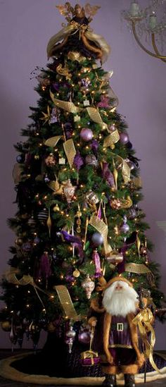 Christmas Tree ● Purple and Gold