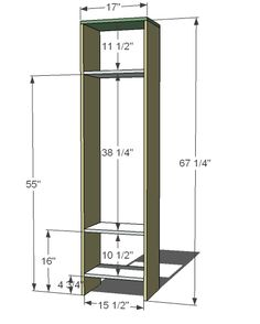 Single Locker Cabinet for an entryway-can be doubled