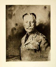 1921 Rotogravure William Orpen Art WWI Portriat Field Marshal Earl Douglas XAHA8