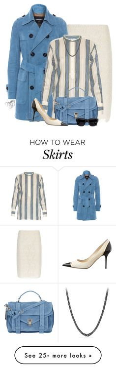 """Trench & Pencil"" by bainbridgegal on Polyvore featuring Nina Ricci, Dsquared2, Vince, Proenza Schouler, Jimmy Choo, David Yurman and Acne Studios"
