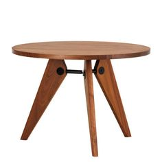 Gueridon table J Prouvé (Vitra, 1684€).