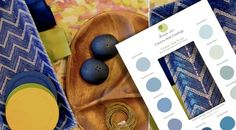 Devine Color - interior inspiration, color inspiration, blue, yellow, bright, warm colors, blue wall paint