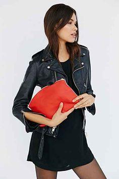 BAGGU X UO Colorblock Leather Clutch