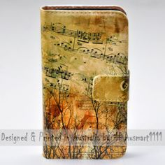 For Sony Xperia Series - Music Note Theme Print Wallet Mobile Phone Case Cover
