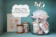 Making It Pretty | the Mason Jar Pin Cushion Sewing Kit | eHow Crafts | eHow