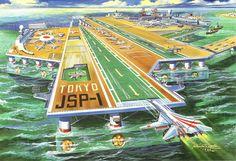 Sci-fi illustrations by Shigeru Komatsuzaki