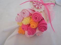 Baby Washcloth Flower Bouquet     Baby by YummyWearDiaperCakes, $17.00