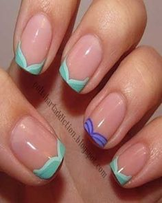 I think this is cute and delicate.. it can be done with ANY color combination.. job well done :) (they call it Disney Nail Art)
