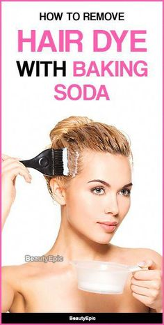 How to Remove Hair Dye with Baking Soda Baking soda is frequently applied as a natural hair color remover. Let us read to know how to use baking soda to remove hair dye naturally. Black Hair Dye, Dyed Red Hair, Baking Soda For Hair, Baking Soda Shampoo, Baking Soda Hair Lightener, Honey Shampoo, Hair Dye Removal, Hair Color Remover, Diy Hair Dye Remover