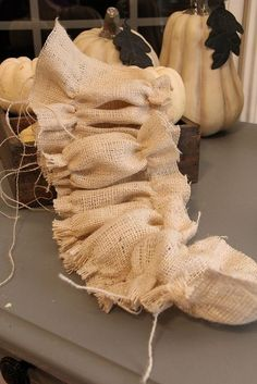 how to ruffle burlap--I'm using this technique for my burlap curtains by mavis