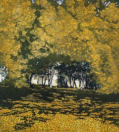 Phil Greenwood etching 'Shadows Way'