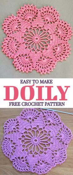 Easy To Make Doily Free Crochet Pattern - At the first sight this beautiful croc. Easy To Make Doily Free Crochet Pattern - At the first sight this beautiful Easy To Make Doily Free Crochet Pattern - Yarnandhooks Lavender sachets -- crochet motif -- set o Free Crochet Doily Patterns, Crochet Motifs, Thread Crochet, Crochet Stitches, Knitting Patterns, Free Pattern, Crochet Ideas, Free Knitting, Knitting Ideas