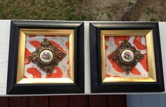 Antique Cameos Mounted and Framed